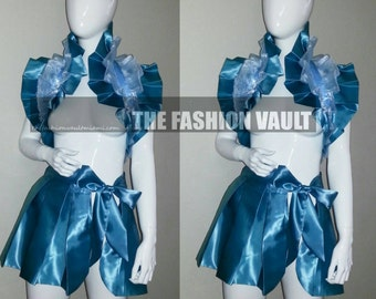 Sample Anime Cosplay Frozen burlesque set  bolero wrap and apron skirt