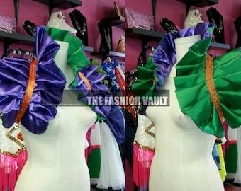 Sale Dramatic Exclusive Joker anime Showgirl collar bolero Steampunk Circus Cosplay Supercon
