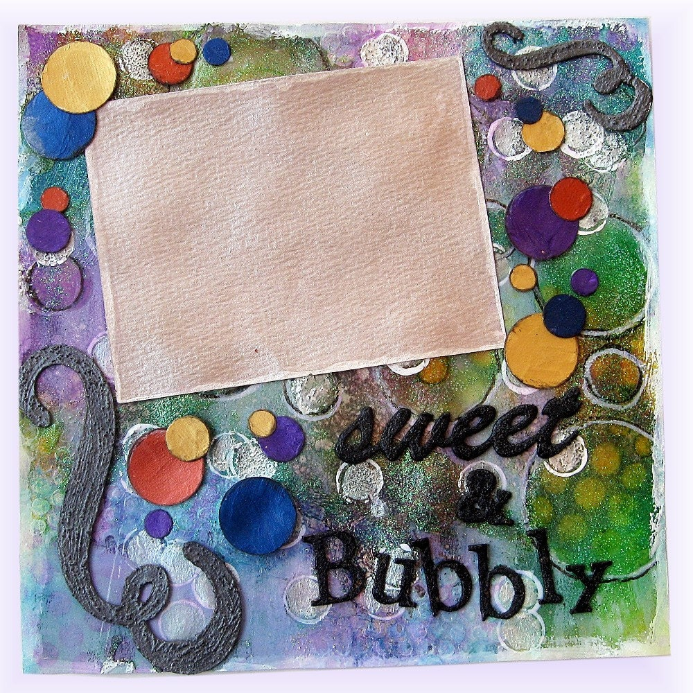 How to scrapbook on canvas - Sweet Scrapbook Page Canvas Art Original Mixed Media Art Collage Photo Art Work Mixed Media Frame Framed Scrapbook Page Collage Art