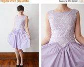 SUMMER CLEARANCE 1950s Lavender Teena Paige Party Dress - S/M