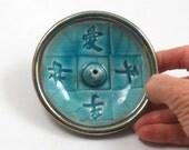 Raku Incense Burner Feng Shui Elements 4 inches
