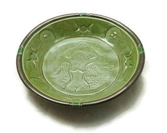 Gaia/Mother Earth Triple Moon & Oak Offering  Handmade Ceramic Pottery