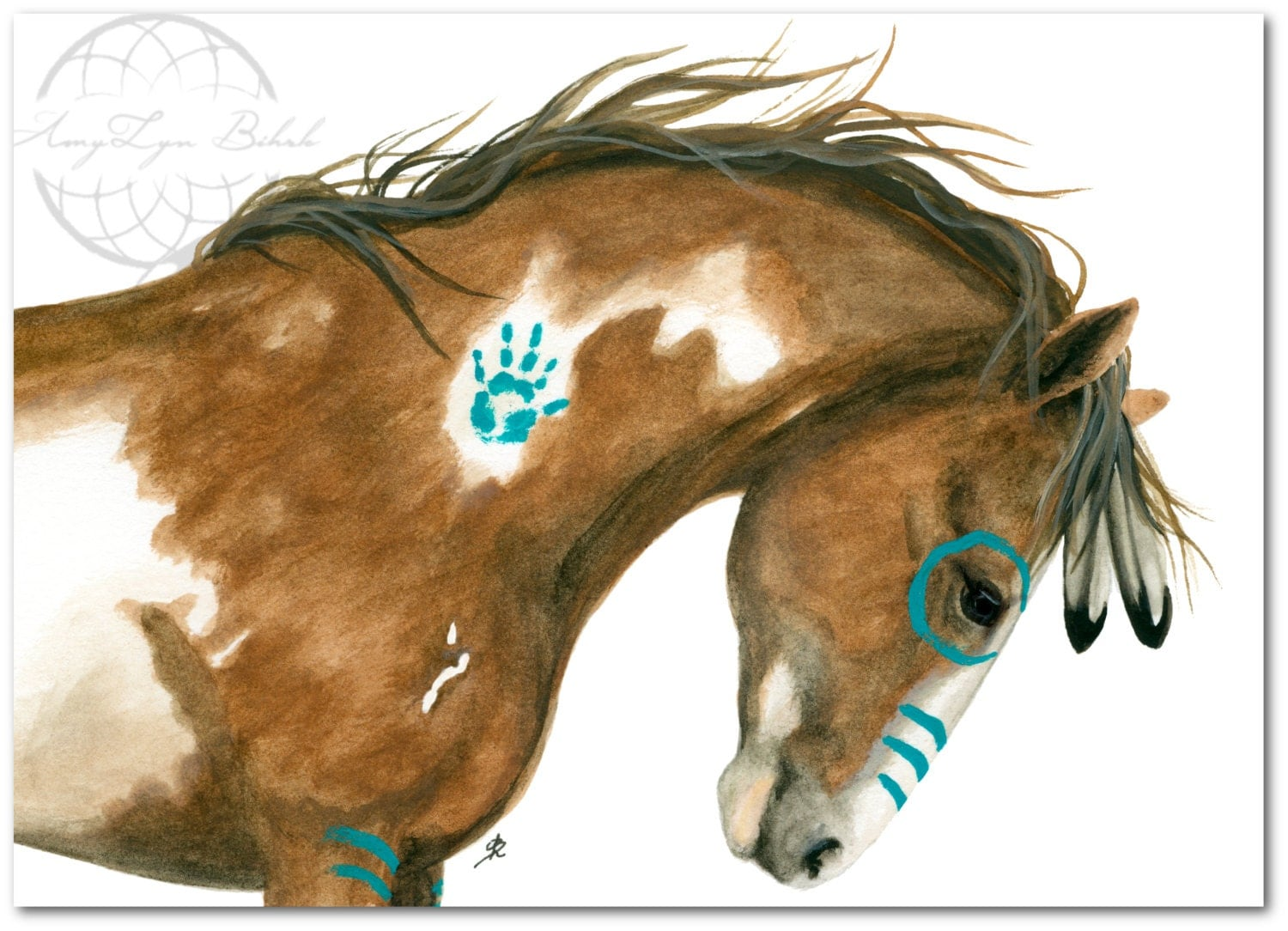 Majestic Native American Spirit Horse Art Giclee Print By