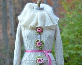 Custom Wedding COAT for MC. Winter Wonderland fantasy  clothing
