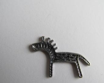 Zebra, Antique Silver, pewter charm             ZB-1