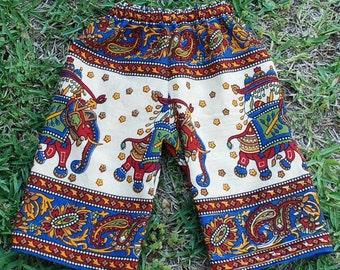 Hippie Kids pants-size 6-9 mths.-Blue Lg. Elephant -Boys or Girls- Read measurements