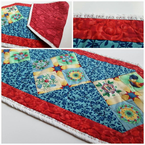Table Runner Country Kitchen Table Quilt Rooster Placemats