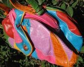 RESERVED for Coralfish Sharif Vtg Handbag Many Colors Top Handle or Shoulder Strap Leather Animal Skin Art Fine Workmanship USA C Details