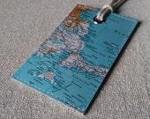 Boston & Cape Cod original vintage map luggage tag