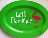 "Flamingo ""Let's Flamingle"" Serving Plate"
