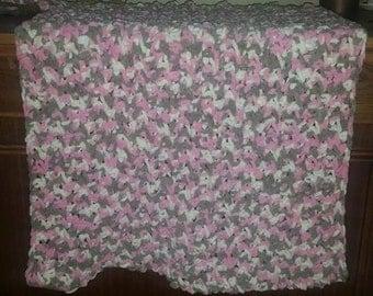 crochet baby blanket and beanie set