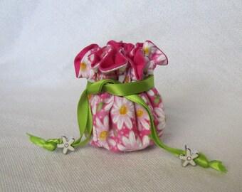 Drawstring Jewelry Pouch - Mini Size - Travel Jewelry Bag - Jewelry Tote - LAZY DAISY