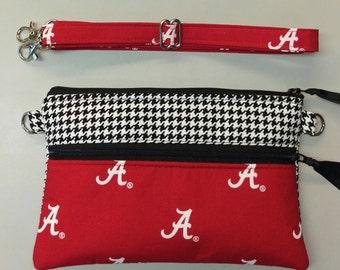 University of Alabama Crimson Tide purse, bag, cross body bag, game day bag, houndstooth