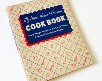 Vintage 1940 Better Homes and Gardens 3 Ring Binder Cook Book / 1940s Kitchenware, Grandma's Recipes