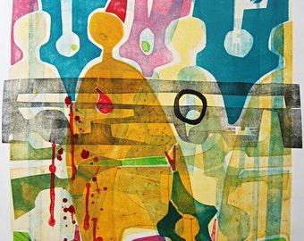 Digital Fine Art Print : RoadToMarrakesh(ArabSpring)