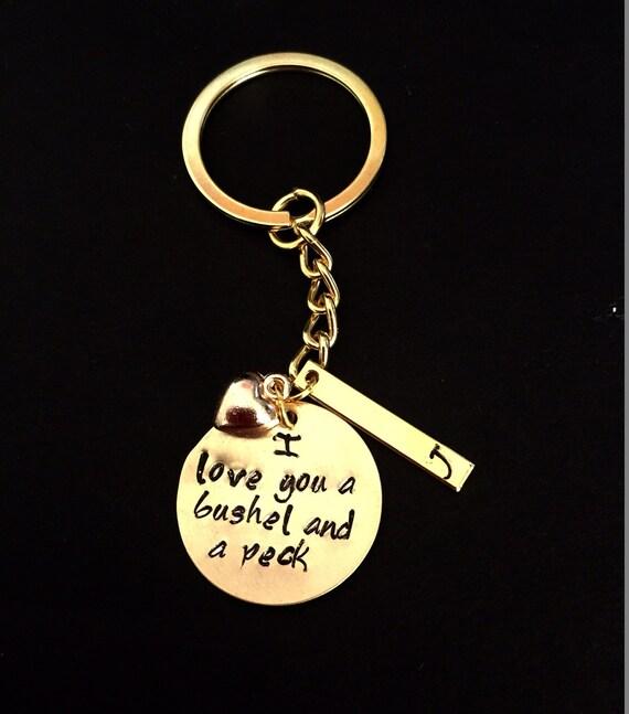 I Love You A Bushel And A Peck Necklace: I Love You A Bushel & A Peck Heart Charm Keychain