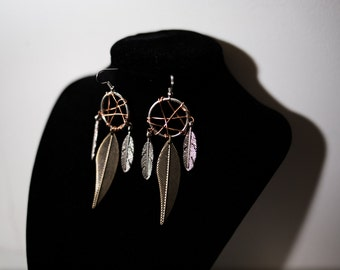 Mini Dream Catcher Earrings