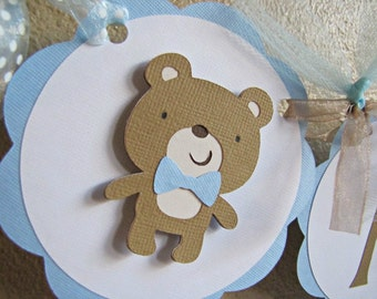Teddy Bear Party High Chair Banner, I AM 1, Teddy Bear 1st Birthday Banner, Bear High Chair Banner, Boy 1st Birthday Banner, Build A Bear
