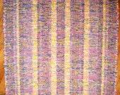 Handmade Rag Rug - Pink, Blue Multi (Inv. Id 05-0661)