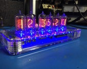 ZM1032 Nixie Tube Clock with Blue LED's and GPS receiver