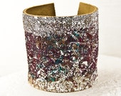 Valentine's Leather Casual Jewelry Painted Cuff - February Art Guide, Winter Trends, Popular, 2016 Unique Trending Items, Handmade Finds