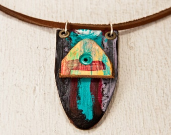 Boho Necklace Gypsy Jewelry - Unique Original Art Jewellery - Gift Idea For Her