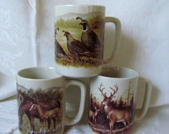 Vintage Otagiri California Quail Coffee Mug