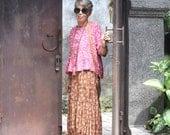 Putra Skirt, Sizes XS - 2X, Bali Batik, Rayon