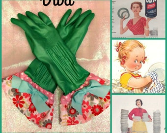 Retro glamour diva dish gloves size medium