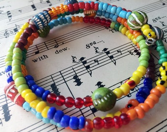Dia de los muertos bracelet hippie bracelet boho bracelet tribal jewelry Day of the Dead
