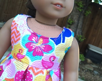 18 Inch Doll Clothes Hawian Luau Dress for American Girl Doll