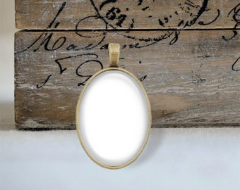 Two Templates - 18mm x 25mm Oval Tray Pendant
