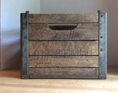 Vintage Wooden Milk Bottle Crate #2