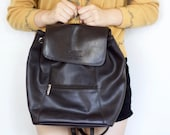 90s Vintage/ ESpirit All Leather Brown Backpack