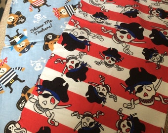 Two Pirate Burp Cloths