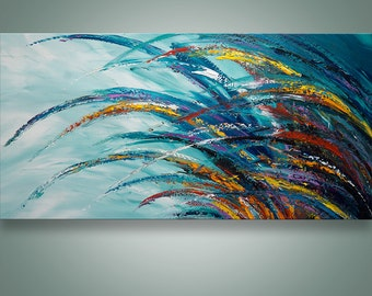 Abstract Wall Art, Palette Knife Painting, Modern Painting, Home Decor, Wall decor, Wall Art, Canvas Art, Abstract painting, Art by Catalin