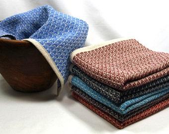 Handwoven Broken Twill Tea Towels in Cotton and Linen Multiple Colors