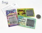 Pregnancy Announcement Scratch Off Lotto Replica Ticket Pregnancy Reveal Card Lottery Scratch-Off Replica (5 Cards)