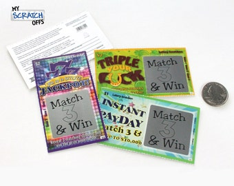 Pregnancy Announcement (5 cards) Scratch Off Lotto Replica Ticket - VARIETY PACK