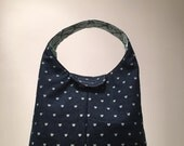 Insulated Lunch Bag - Denim and Hearts