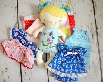 Baby Patsy Playset, first doll, shower gift, toddler doll, keepsake doll , handmade, ready to ship