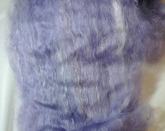 Suri Alpaca Batts, 100% Suri Alpaca, Hand dyed Alpaca, Suri Alpaca Fiber Batts, Lavender Batts, 4oz