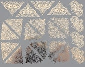 Decorative Corners and Triangles - Decals for Glass or Ceramic