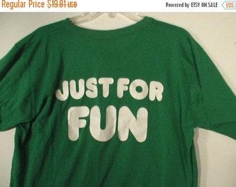 FLASH SALE Men's green henley tshirt shirt Just for Fun party grunge punk jock suggestive