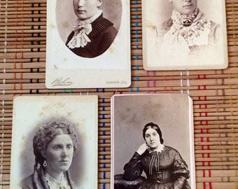 Dignified Ladies--Vintage Cartes des Visite