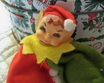Christmas felt bean bag  pixie elf