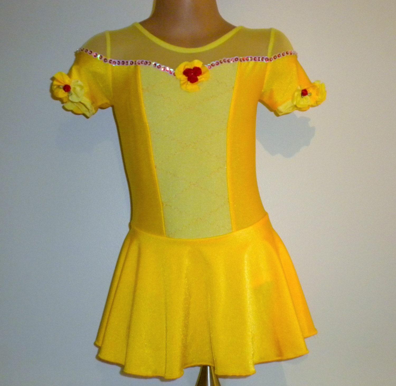 Ice skating dress yellow