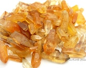 Pretty! TWO Golden Lemurian Points, Brazil, Crystal Healing, Laser Points, Rock Hound, Feng Shui, Crystal Grids, Minerals,