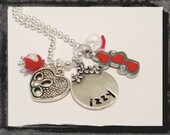 Girls Valentine Necklace TRIPLE HEART Cameo Set Valentines Day Necklace #V11 Ships within 3 days of order.