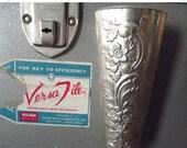 50% OFF Sale Beautiful Elegant Vintage 1940s 1950s Hollywood Regency Silvertone Art Noveau Floral  Vase